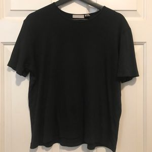 Black Ribbed Relaxed Tee